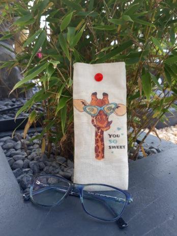 Pochette à personnalisée (simple) range lunettes